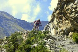 Mountain Biking on the Single Track in Annapurna