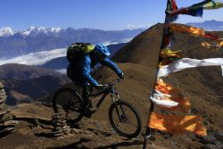 Mountain Biking Pikey Peak, Everest Enduro with Himalayan Single Track Nepal