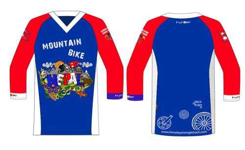 Custom Nepal Jersey at Himalayan Single Track