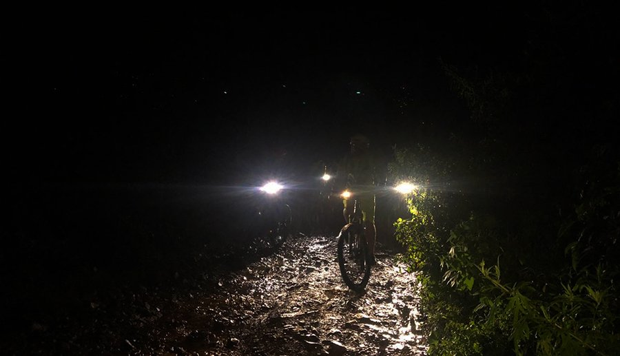 Night Mountain Biking with Himalayan Single Track