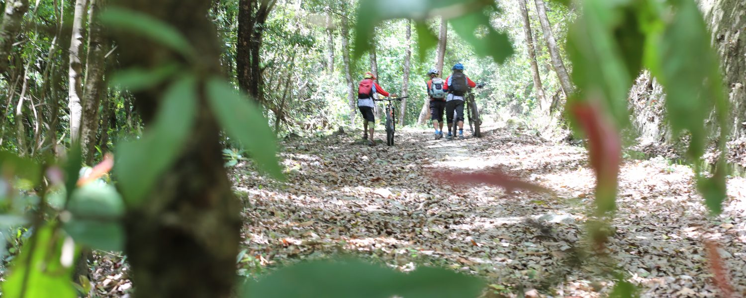Mountain biking with the Himalayan Single Track Team