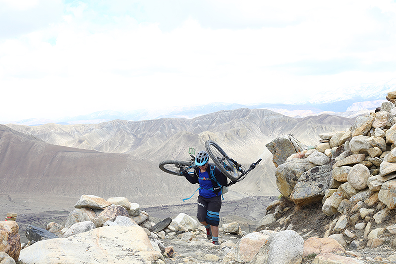 Mountain biking annapurna and upper mustang with himalayan single track