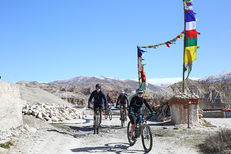 Mountain Biking in Upper Mustang with Himalayan Single Track