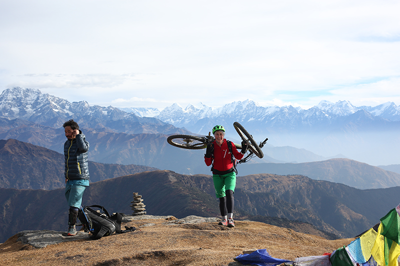 Mountain Biking at Pikey Peak with Himalayan Single Track